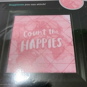 "Artiste Counted Cross Stitch "" Count the Happies"""
